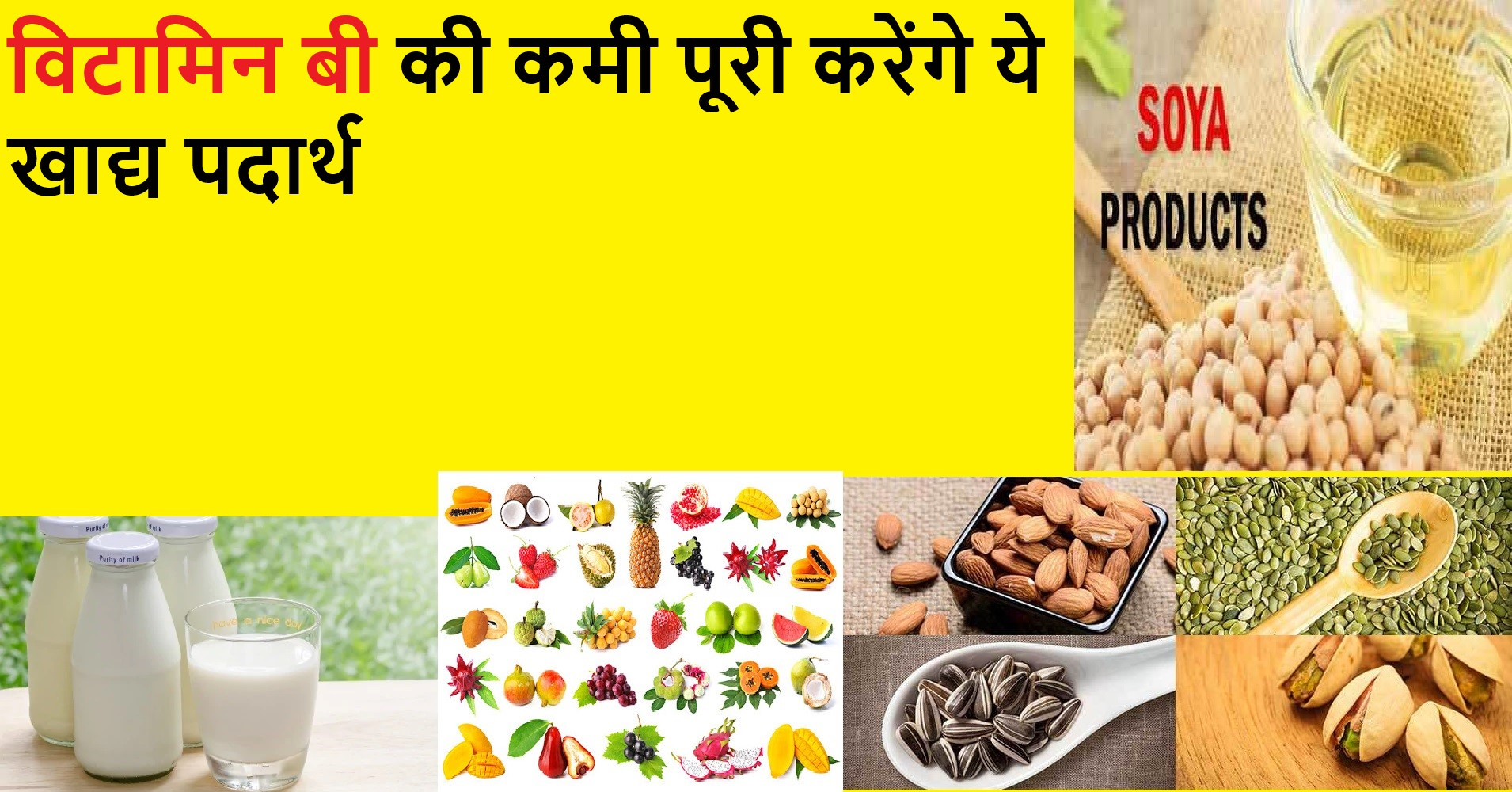 What foods are high in vitamin B in Hindi